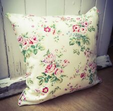 Handmade Pink Roses 100% Cotton Cushion Cover. Various sizes