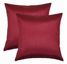 Aiking Home Solid Faux Silk Decorative Pillow Cover ( Set of 2 )