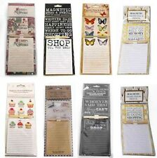 Magnetic Memo Pad & Pencil Fridge Magnet Notes Board Travel Look Shopping List