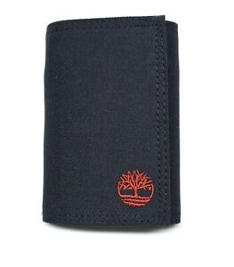 Timberland Nylon Trifold Credit Card Wallet with ID window - Navy Blue