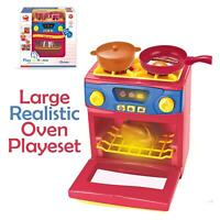 Kitchen Food Cooking Gas Oven Appliances Toy Pretend Play Set With Pot And Pan