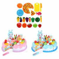 24/37pcs Kid Pretend Role Play Toys Kitchen Fruit Cake Food Child Cutting Set
