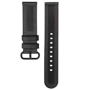 Official Samsung Galaxy Watch Active 1 & 2 40mm 44mm Textile Band Strap - Black