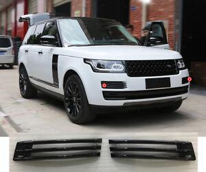 For Range Rover L405 2018-2021 Black Front Fog Bumper Grille Air Vent Cover Trim