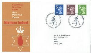 GB FDC Northern Ireland Definitives 23 July 1980