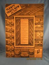 1937 South Bend fishing equipment store advertising card very nice