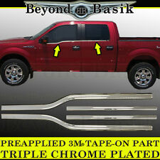 2004-2008 Ford F150 F-150 4Dr Crew Cab Chrome Window Sill Trims Covers Overlays