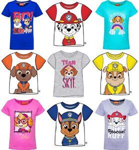 PAW PATROL Boys/Girls T-Shirt/Top - MARSHALL SKYE RUBBLE CHASE ZUMA 1.5 - 7 yrs