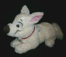"13"" DISNEY STORE 2ND WAVE BOLT LYING WHITE PUPPY DOG STUFFED ANIMAL PLUSH TOY"