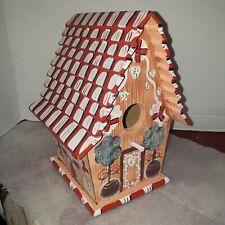 Christmas wooden bird house