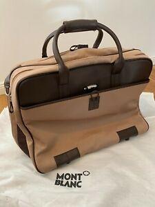 MB Montblanc Nightflight large travel bag brown 38049 Retail Price 1200€