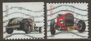 Scott #4908-09 Used Set of 2, Hot Rods (Off Paper)