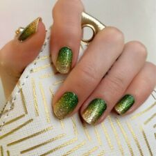 Color Street IT'S GOLD IN HERE (Gold Green Glitter Ombre Fall Winter Holiday)