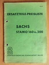 Ersatzteilliste Sachs Stamo 160 200 auch Ausführung Gottwald Bungartz Wacker