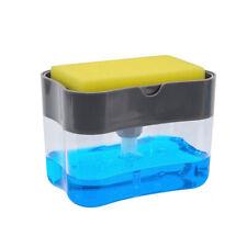 Dosatore sapone pompa spugna caddy per cucina 2 in 1 sapone pressa manuale