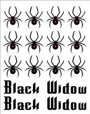 Bike Frame Black Widow & Name Vinyl Decal Set Custom Made to Order Personalized