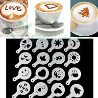 Set 16 stencil mascherine decorazione tazza caffè cappuccino latte bar barista