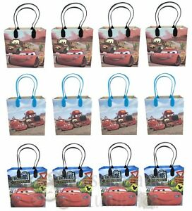 Disney Cars Lightning Mcqueen Party Favor Supplies Goody Loot Gift Bags [12ct]