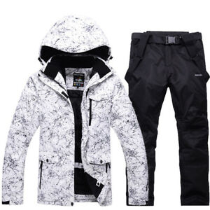 Winter Sports Ski Suit Men Women Waterproof Thick -30 Warm Ski Jacket Pants Coat
