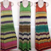 Women's Dress Plus Size Summer Spring Long Maxi Solid XXL Scoop Neck Sleeveless