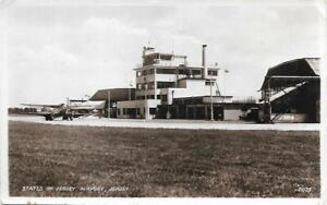 Jersey Airport Dragon Rapide Aircraft Channel Islands Used RP Postcard