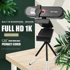 HD Webcam 1080P 1K 2K 4K Full HD Auto Focus Camera USB 2.0 W/ Microphone for PC