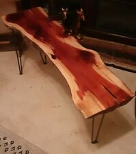 Live Edge Cedar Epoxy Sofa/hall Table