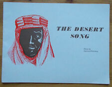 The Desert Song programme March and District Amateur Operatic Society 1971