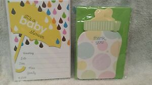 >>>Baby Shower Umbrella Invitations-Bottle Thank You's - NOS - FREE SHIP<<<