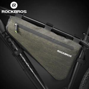 RockBros Cycling Frame Bag MTB Road Bike Triangle Bag Rainproof 5L/8L UK