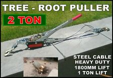 More details for tree root winch stump post fence puller ratchet garden lifter workshop removal