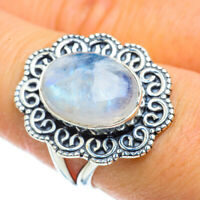 Rainbow Moonstone 925 Sterling Silver Ring Size 8.5 Ana Co Jewelry R43507F