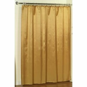 "Carnation Home ""Lauren"" Dobby Fabric Shower Curtain in Gold"