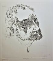 LEONARD BASKIN Original PENCIL SIGNED ETCHING Gruenewald RARE PROOF