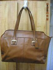 Coach Lt Brown Soft Leather Large Tote Satchel Shoulder Handbag VGUC