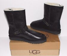 1004949 UGG Australia Women Blaise Crystal Short Leather Sheepskin Boots Bl