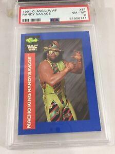 Macho King Randy Savage 1991 Classic Wwf #51 Psa 8 Pop 1 Wwe