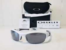 OAKLEY 03-882 FLAK JACKET Polished White w Black Iridium Lenes Sport Sunglasses