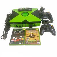 Microsoft Original Xbox Console 2 Controllers  Star Wars, Tetris, Pool Games OEM