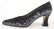 Womens Pumps Velvet Brocade Gray Slate Blue Cara Molina Sz 8 N Made in Spain New