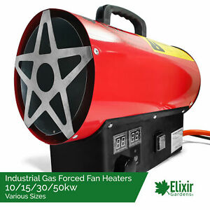 Industrial Gas Heater | 10, 15, 30 & 50kw | Farms, Workshops, Greenhouses