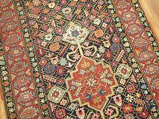 Antique Decorative Caucasian Karabagh Rug Gallery Size 4'8''x12'7''
