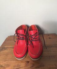 Dooney & Bourke Red Pebble Grain 3 Eye Chukka Vibram Moccasin Boots Size 6B