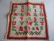 French Antique EMBROIDERY HAND MADE SAMPLER  monograms