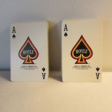 Lot/2 sets Paper Playing Cards, Hoyle, Floral Backs, NO Jokers