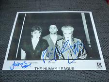 THE HUMAN LEAGUE signed Autogramme auf 20x27 cm Foto InPerson LOOK