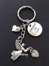 Guardian Angel Love Heart Keychain BELIEVE IN LOVE Coin Charms Birthday Gift