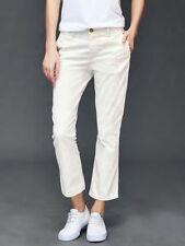 NWT GAP Authentic Crop Kick 2 snow cap white Pants 0R