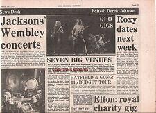 STATUS QUO tour dates 1974 UK ARTICLE / clipping