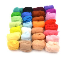 36 colors Wool Fibre Roving For Needle Felting Hand Spinning DIY material UK